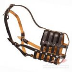 Comfortable Royal Nappa Leather Dog Muzzle with Soft Lining