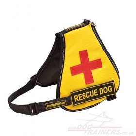 Yellow Service Dog Harness Vest with Removable Patches