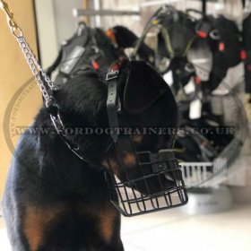 Rottweiler Muzzle Rubberized - Best Dog Muzzle for Winter!