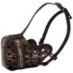 Leather Dog Muzzle UK Exclusive Style Barbed Wire for Agitation