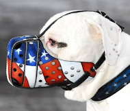 American Bulldog Muzzle American Pride | Dog Training Muzzle UK