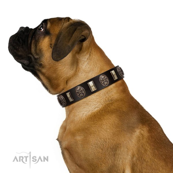 Bullmastiff Leather Dog Collar