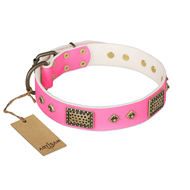"Pretty Dog Collar ""Frenzy Candy"" FDT Artisan for Large Breeds"