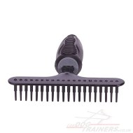 "Gentle and Effective Dog Grooming Rake Comb ""Denti Conici Grande"""