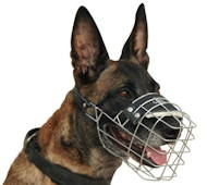 Wire Dog Muzzle for Malinois | Malinois Muzzle UK Bestseller
