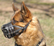 German Shepherd Muzzle Lightweight and Ventilated Basket