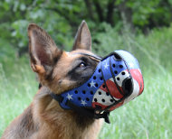 Hand Painted German Shepherd Muzzle for K9 and Protection