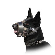 German Shepherd Nappa padded leather Muzzle for dog UK