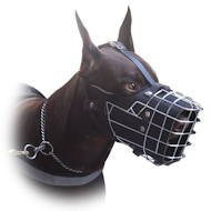 Doberman Muzzle Padded | Padded Basket Muzzle for Doberman