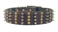 2 inch Wide Collar for Dogs with Spikes and Studs