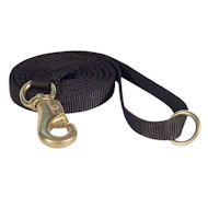 Police tracking dog lead with Strong brass snap hook, UK
