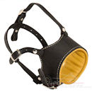 Padded dog muzzle