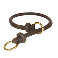 Dog Slip Collar Round Leather