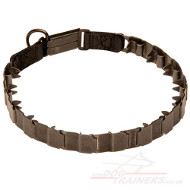 Steel Collar for Dogs Black | Pinch Dog Collar