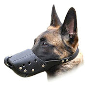 Leather Dog Muzzle for Malinois and Similar Dogs