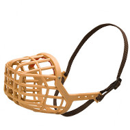 Light Plastic Basket Dog Muzzle for Small Dogs and Medium Breeds