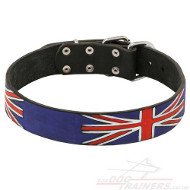 Dog Collar with UK National Style, Hand-Painted Exclusive Design