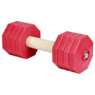 Wooden Fetch Training Dumbbell with Adjustable Plates, Red