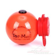 NEW! Top Matic Big Plastic Dog Ball Orange with a MAXI Power Clip
