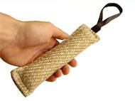 Jute bite tug 2 inch on 8 inch with handle, UK