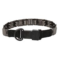 Herm Sprenger Matt Black Metal Dog Collar Neck Tech Sport