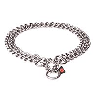 "Best Metal Dog Collar ""Double Chain"" 3/4 inch (20 mm)"