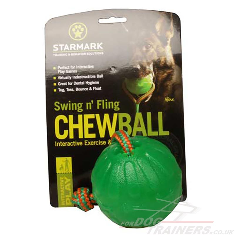 Interactive Rubber Dog Ball