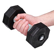 Black Dog Dumbbells with Adjustable Plastic Discs 1 kg