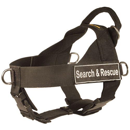 search and rescue dog harness