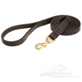 Classic leather dog leash
