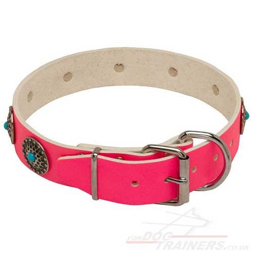 Pink dog collars limited edition designer dog collar new - Designer small dog collars ...