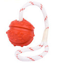 Flavored dog ball on rope