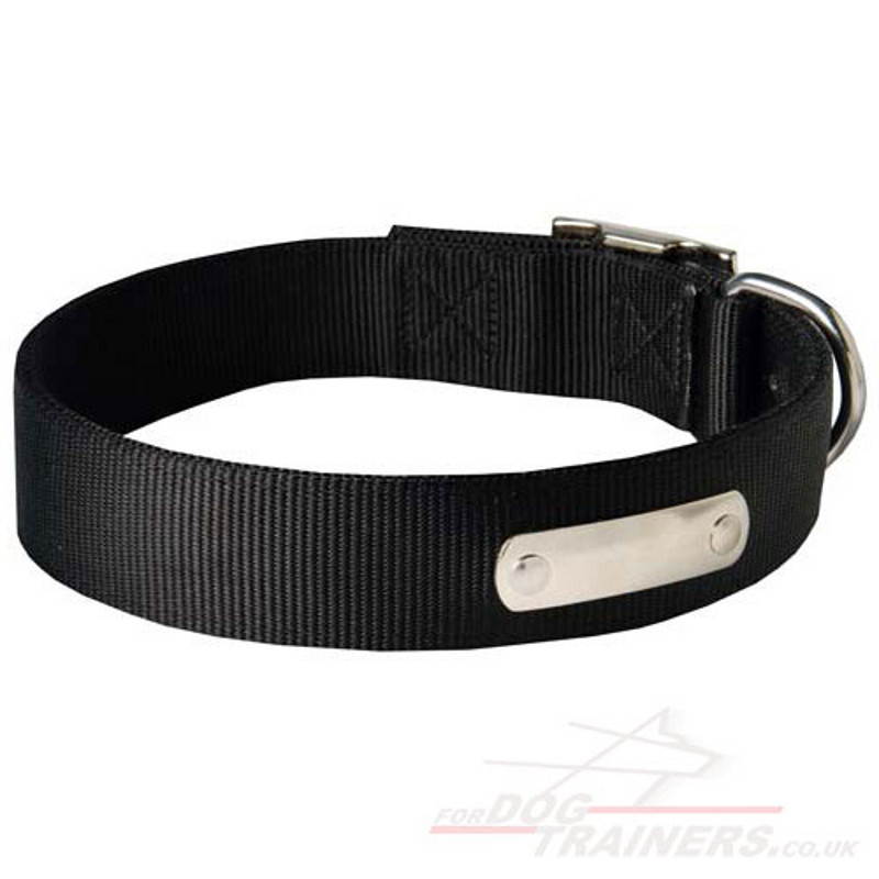 A dog collar is a piece of material put around the neck of a dog.A collar may be used for control, identification, fashion, or other purposes. Identification tags and medical information are often placed on dog collars. Collars are also useful for controlling a dog manually, as .
