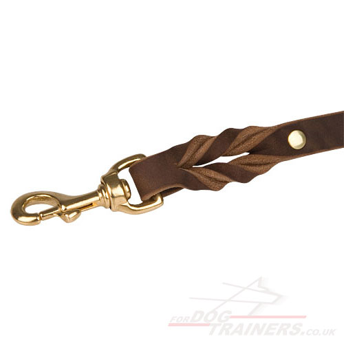 Leather Police Dog Lead UK