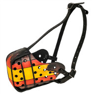 Spanish Painted Dog Muzzle Basket for Dog Attack and Protection
