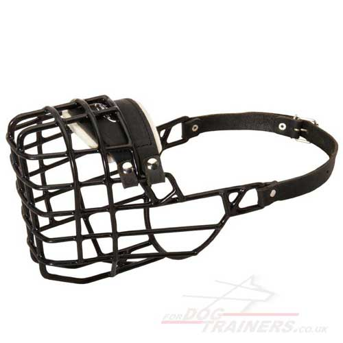Rubberized Basket Dog Muzzle for Doberman