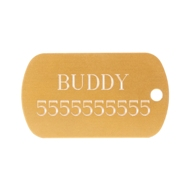 ID Dog Tag Name Plate with Custom Engraving