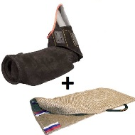 Special Dog Training Bite Arm Sleeve with Bent Bite + Jute Cuff