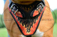 "Dogue De Bordeaux Dog Harness with Paint ""Flame"""