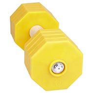 "Yellow Dumbbells For Dog Training ""Play up"" 2 kg"