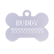 NEW! Personally Engraved Dog Bone Tag in 5 Colors