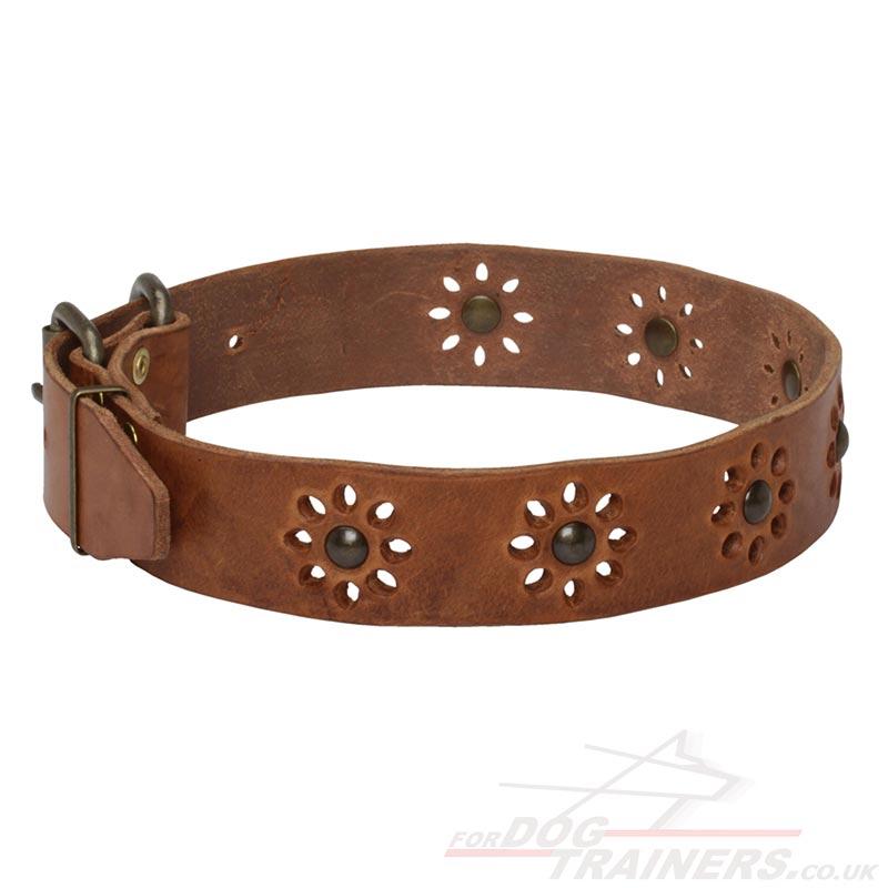 Pretty Dog Collars Flowery Style Nice Dog Collars 163 35 05