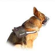 German Shepherd harness with reflective strap, UK