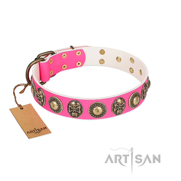 Chic Skull Studded Dog Collar by FDT Artisan