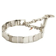Big, Strong Stainless Steel Dog Collar for Training