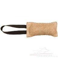 Jute Bite Tug for Puppy | Pocket Dog Toy With Handle