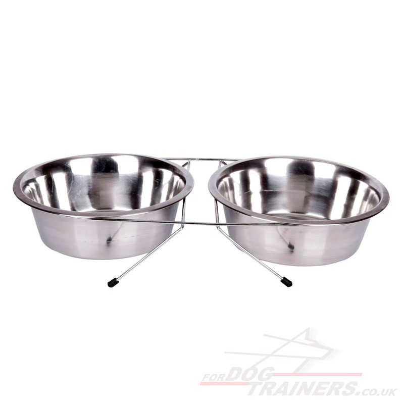 Stainless Steel Raised Bowls for Dogs for Feeding