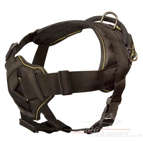 Light & Strong Padded Nylon Dog Harness with Handle XS-XL Sizes