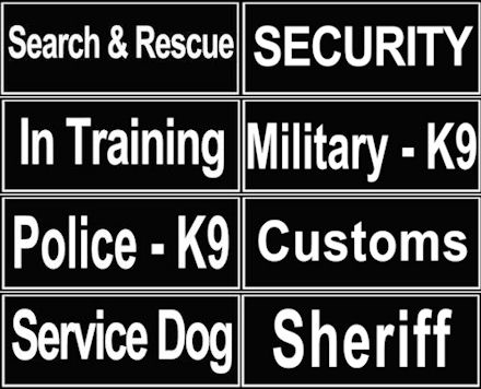 K9 Nylon Dog Harnesses Patches | Nylon Dog Collar Patches
