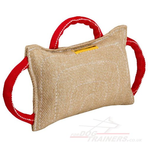 Jute Dog Bite Pad With 3 Handles UK Most Popular